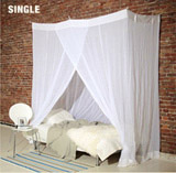 Square Mosquito Cotton Net Single